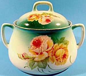Small Antique Soup Tureen With Roses - Bavaria