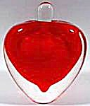 Perfume Bottle - Red Glass Paperweight Heart