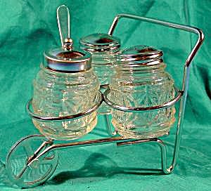 Condiment Set With Caddy Cart