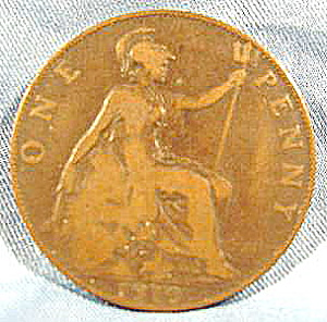 Great Britain One Penny Coin - 1910