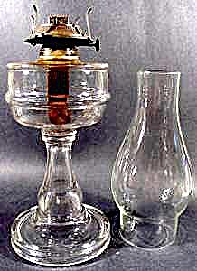 Antique Kerosene Oil Lamp - P & A - 1800's