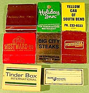 Lot Of 8 Matchbooks & Matchboxes
