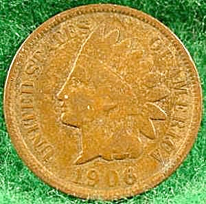 Indian Head Cent Coin - 1906