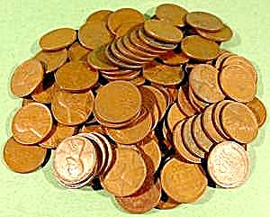 Lot Of 100 Assorted Wheat Cents Coins - Pennies