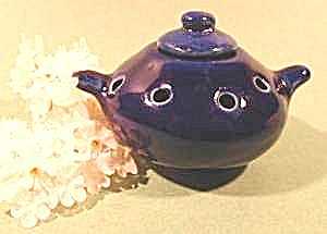 Cobalt Blue Oriental Incense Censer Burner - Porcelain