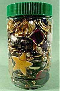 Large Jar Of Craft Jewelry - Some Wearable - 2 Pounds