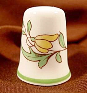Spode Bone China Floral Thimble - England