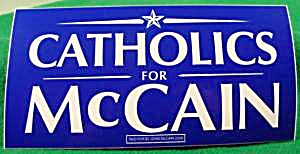 Mccain 2008 Bumper Sticker - Catholics For Mccain
