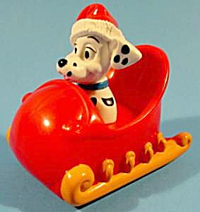 102 Dalmatians Christmas Sleigh Toy Ornament Mip