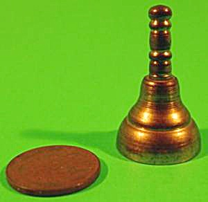 Doll House Miniature Brass Bell - Vintage