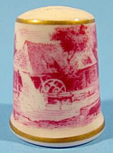 Mill Pond Scene Thimble - Kaiser - W. Germany