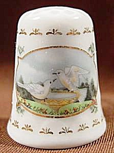 Thimble - White Doves - West Germany
