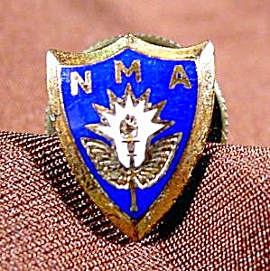 Nma Lapel Pin Button - Vintage