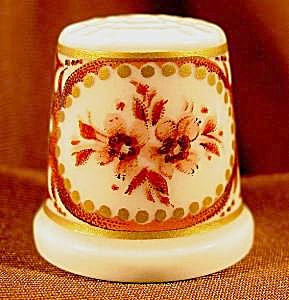 Classic Rose Porcelain Thimble - Germany