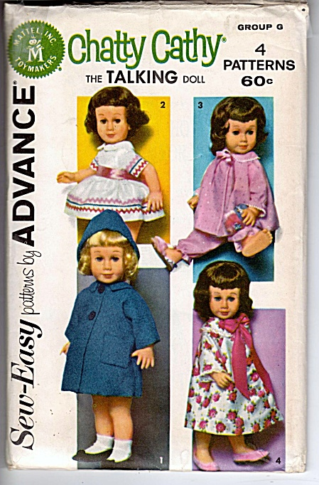 Vintage - Advance - Sew-easy - Chatty Cathy - Pattern