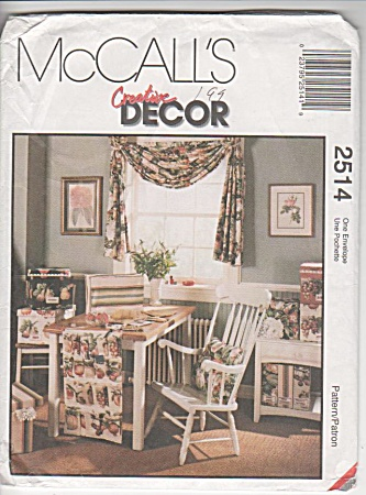 Mccall Home - 2514 - Home Decor - 2514 - Uncut - Oop