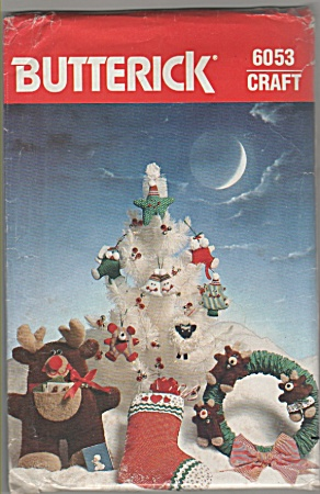 Butterick - Christmas - Crafts - 6053 - Oop