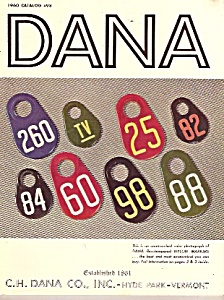 Dana Co. Catalog For 1960 # 98
