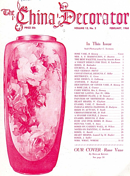 Vintage - China Decorator - February - 1968