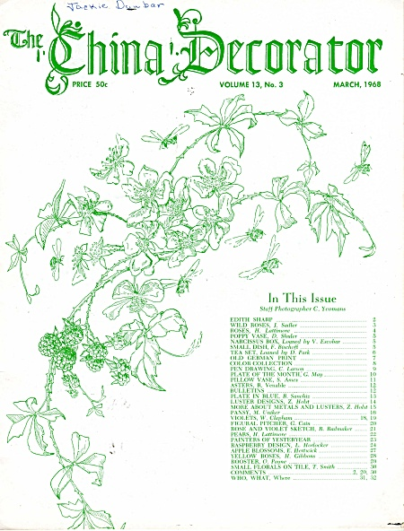 Vintage - China Decorator - March 1968 - Oop