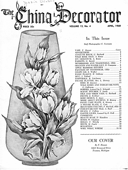 Vintage - China Decorator - April - 1968