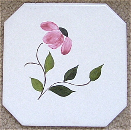Blue Ridge Match Tile Trivet Flower Hp