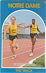 Notre Dame Track Guide 1987
