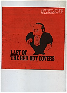 Last Of The Red Hot Lovers Theatre Program Vintage