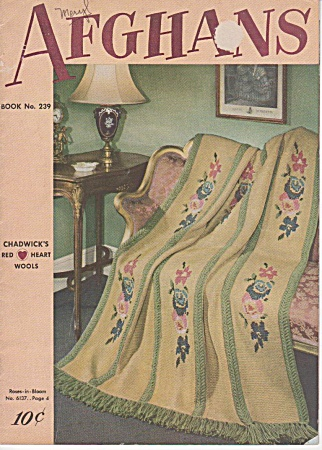Antique Afghans - Knit - Crochet - Chadwick - 1948oop