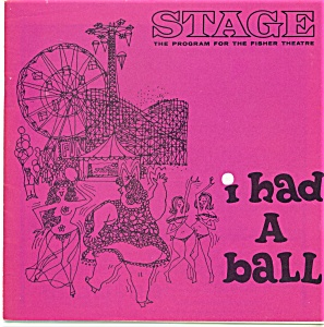 Fisher Stage Program - I Had A Ball - 1964
