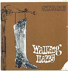 Fisher Stage Program - Walking Happy - 1966fisher Stage