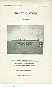 Sweet Clover - Michigan State College - Oct. 1932