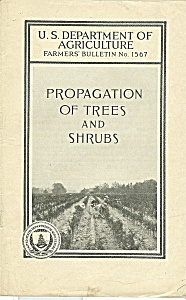 Propagation Of Trees An Shrubs Catalog - Feb. 1932
