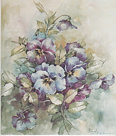 Mary Patusky Pansies Study 05 China Painting