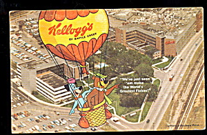 1964 Kellogg's Cereal Advertising Postcard