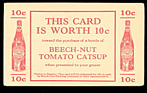 1931 Beech-nut Tomato Catsup Advertising Postcard