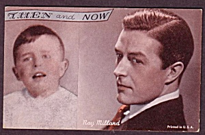 1960s Ray Milland 'then And Now' Actor Arcade Card