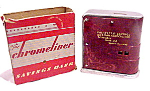 1930s Chromeliner Chicago Il Fairfield Bank With Box