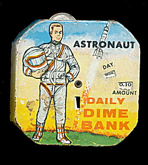 1950 Kalon Astronaut Daily Dime Register Bank
