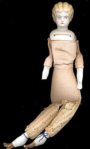 Early 1900s German Gok Doll W Cloth Body