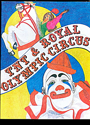 1977 Tnt & Royal Olympic Circus Coloring Book