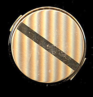 1950s Volupte Goldtone Round Compact - Excellent