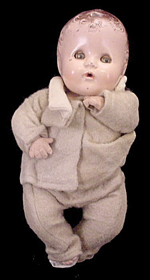 "1930s 11"" Composition Baby Doll"