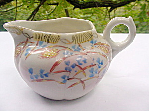 Lovely Early 1900s Flower - Blue Flower Creamer