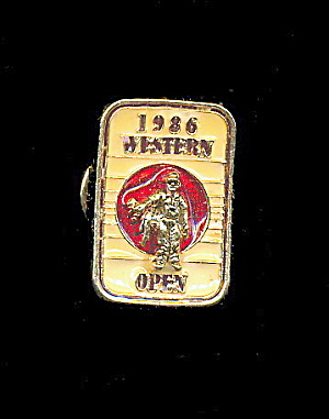 1986 Western Open Golf Pin