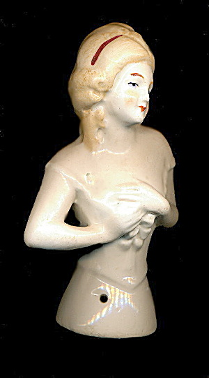 "1920s Bisque Germany 4"" Half Doll"