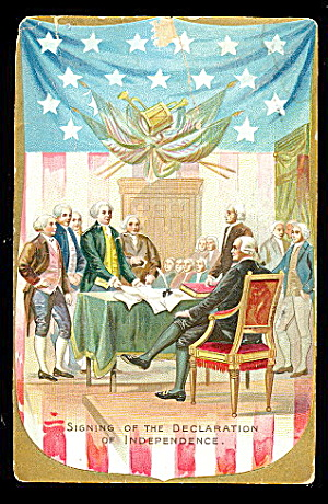 Tucks Independence Day Declaration 1908 Postcard