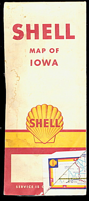 1940s Shell - Map Of Iowa