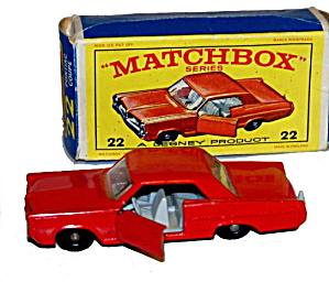 1960s Matchbox 22 Pontiac Coupe In Box
