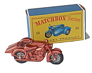 1960s Matchbox 66 Harley Davidson Motorcycle In Box